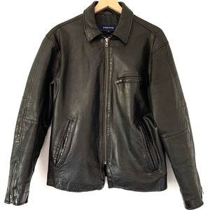 Vintage Leather Moto Jacket By Structure